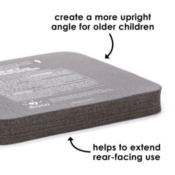 Angle Adjuster Car Seat Leveler, Car Seat Wedge Cushion, Provides More Legroom For Rear-Facing Car Seats [Black]
