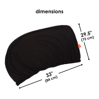 Diono Breeze 'n Shade Pack of 2 Universal Car Rear Side Window Baby Kid Pet Breathable Sun Shade Mesh Backseat, Fits Most Cars/SUVs [Black]