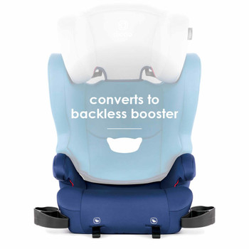 Converts to backless booster [Blue]