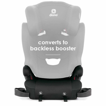 Converts to backless booster  [Black]
