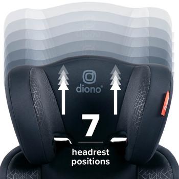 Everett NXT booster seat 7 headrest positions [Black]