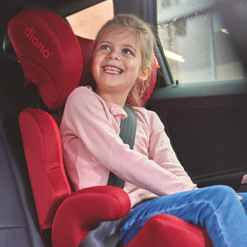 Everett NXT booster seat Red in car [Black]