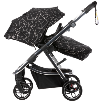 Excurze luxe full size stroller Black Platinum [Black Platinum]
