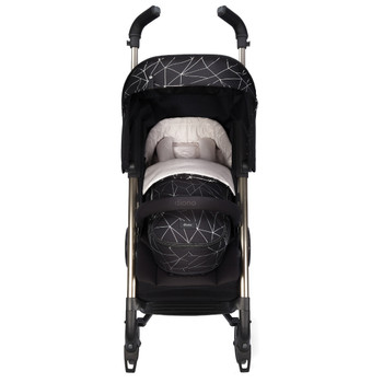 Newborn Pod Stroller Footmuff For Baby, Head Body Support With Temperature Control Inside, Weatherproof, Water Resistant Lining, Universal Fit [Black Platinum]