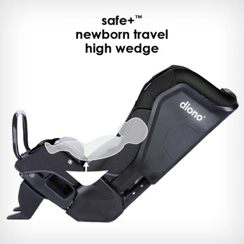 Safe+® newborn travel high wedge [Black Jet]