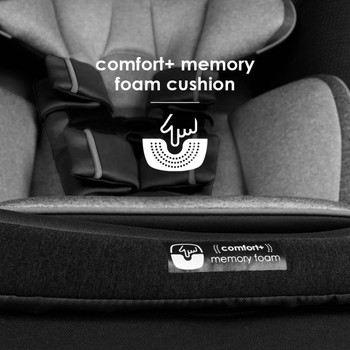 Memory foam cushion seat base [Black Jet]