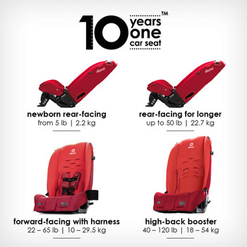 10 years one car seat [Red Cherry]
