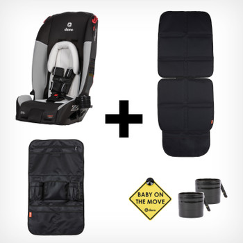 All-in-one travel solution with 4 accessories