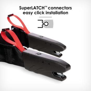 SuperLATCH connectors for quick easy installation