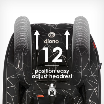 Easy adjust 12 position headrest [Black Platinum]