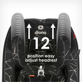 Easy adjust 12 position headrest [Black Camo]