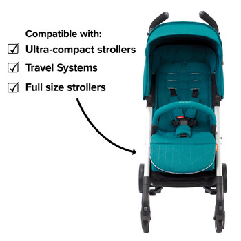 Diono Baby Seat Liner For Stroller, Cool Reversible Stroller Seat Liner With Plush Cushioned Padding, 100% Water Resistant Liner [Blue Turquoise]