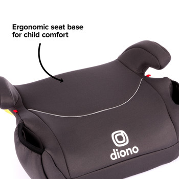 Solana Backless Booster Car Seat Ergonomic seat for child comfort [Charcoal]