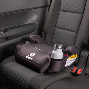 Solana Backless Booster Car Seat Installed in Car [Charcoal]