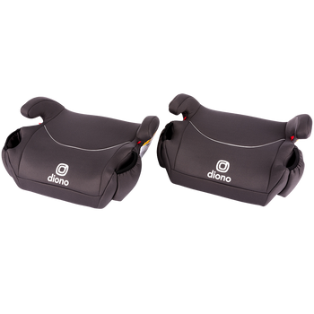 Solana® - 2 Pack of Belt Positing Booster Car Seats [Charcoal]
