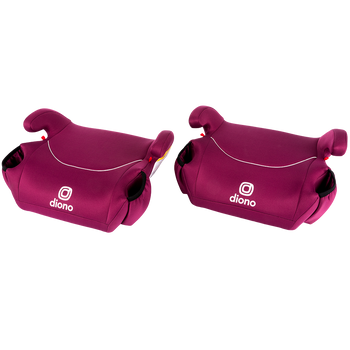 Solana® - 2 Pack of Belt Positing Booster Car Seats [Pink]