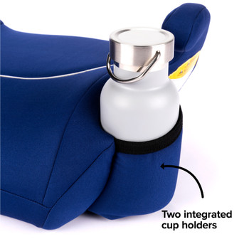 Two integrated cup holders [Blue]