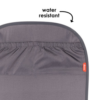 Diono Stuff 'n Scuff ®XL Kick Mat Back Seat Protector for Kids Feet With Storage Pocket, 100% Water Resistant for Protection of Your Upholstery from Dirt, Mud, Scratches [Gray]