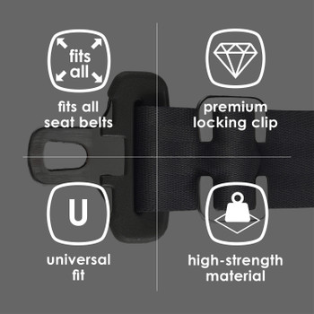 Diono Super Lock® Seat Belt Lock Clip for Kids, Keeps Seat Belt Secure For A Proper Fit Every Time, Made From Reinforced Steel [Silver]