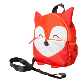 Diono Fox Character Kids Mini Back Back Toddler Leash & Harness for Child Safety, With Padded Shoulder Straps For Child Comfort, Orange [Fox]