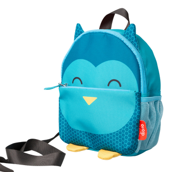 Diono Owl Character Kids Mini Back Back Toddler Leash & Harness for Child Safety, With Padded Shoulder Straps For Child Comfort, Teal [Owl]