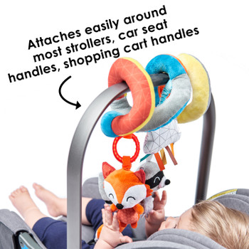 Diono Activity Spiral Baby Toy, Bright Plush Activity Spiral With Interactive Hanging Toys, Perfect For Strollers, Car Seat Bar [Multi]