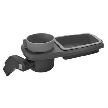 Quantum Snack and Ride Tray, multi-use snack tray that easily clips to your stroller  [Gray]