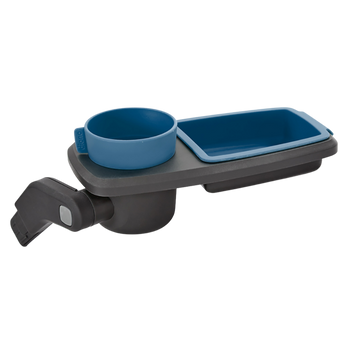 Quantum Snack and Ride Tray, multi-use snack tray that easily clips to your stroller  [Blue]