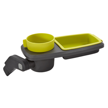 Quantum Snack and Ride Tray, multi-use snack tray that easily clips to your stroller  [Yellow]