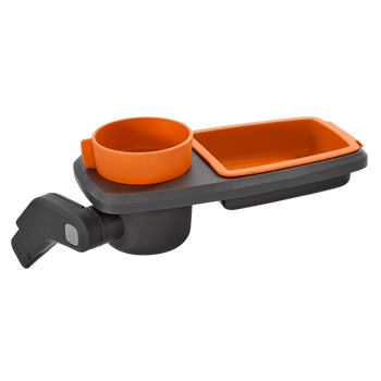 Quantum Snack and Ride Tray, multi-use snack tray that easily clips to your stroller  [Orange]
