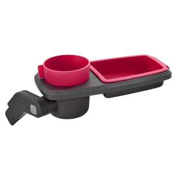 Quantum Snack and Ride Tray, multi-use snack tray that easily clips to your stroller  [Pink]