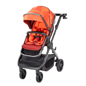 Quantum 2 Stroller, 3-in-1 Multi-mode stroller and travel system suitable from birth [Orange Facet]