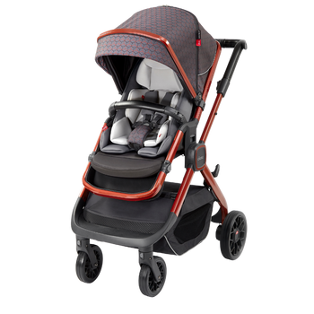 Quantum 2 Stroller, 3-in-1 Multi-mode stroller and travel system suitable from birth [Copper Hive]