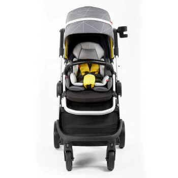 Quantum 2 Stroller, 3-in-1 Multi-mode stroller and travel system suitable from birth [Gray Linear]