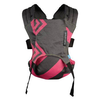 We Made Me Venture Baby Carrier [Bubblegum Charcoal Zigzag]