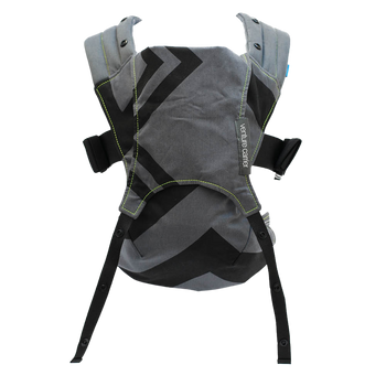 We Made Me Venture Baby Carrier [Charcoal Gray Black Zigzag]