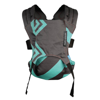 We Made Me Venture Baby Carrier [Mint Charcoal Zigzag]