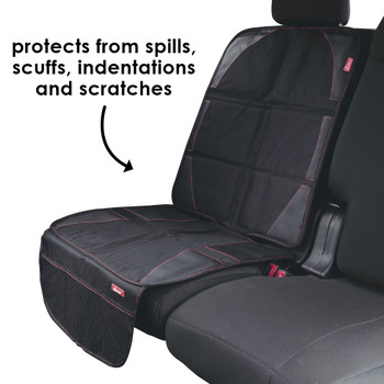 Diono Ultra Mat® Full Size Car Seat Protector For Under Car Seat, Crash Tested With Premium Ultra Thick Padding For Durable, Water Resistant Protection, Includes 3 Mesh Storage Pockets [Black]