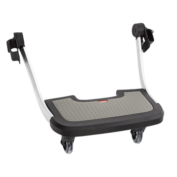 Hop and Roll Board, Perfect Buggy Board for Older Siblings to Ride Along  [Gray]