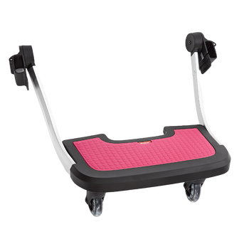 Hop and Roll Board, Perfect Buggy Board for Older Siblings to Ride Along  [Pink]
