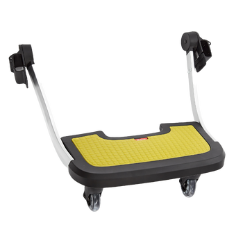 Hop and Roll Board, Perfect Buggy Board for Older Siblings to Ride Along  [Yellow]