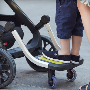 Hop and Roll Board, Perfect Buggy Board for Older Siblings to Ride Along  [Yellow] [Pink] [Orange] [Gray] [Blue]