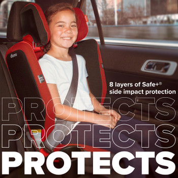 8 layers of safe+ side impact protection [Red Cherry]