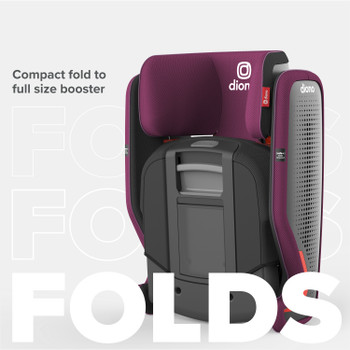 Compact fold to full size booster [Purple Plum]