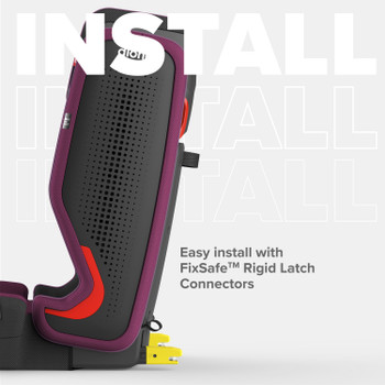 Easy install with FixSafe rigid latch connectors [Purple Plum]
