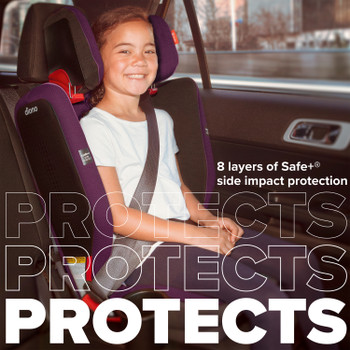 8 layers of safe+ side impact protection [Purple Plum]