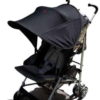 Diono Stroller Sun Shade Maker, Stroller Shade Canopy For Extra Sun Protection, Universal Fit, Compatible With Most Strollers [Black]