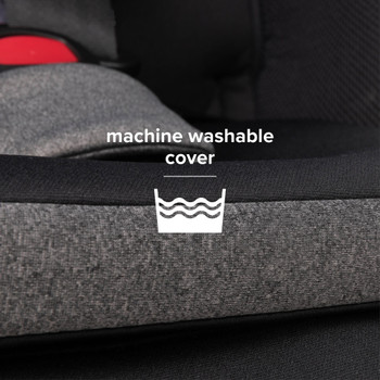 Close Up of the Fabric on the New Diono Radian 3QXT+ All in One Luxury Convertible Car Seat, Demonstrating the Machine Washable Car Seat Cover