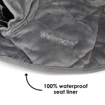 Ultra Dry Seat Deluxe Car Seat and Stroller Protector and Cushion 100% waterproof seat liner [Gray]