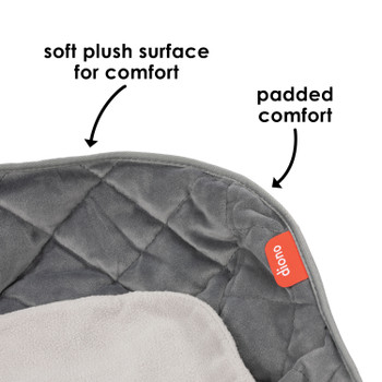 Ultra Dry Seat Deluxe Car Seat and Stroller Protector and Cushion with soft plush surface and padded comfort [Gray]